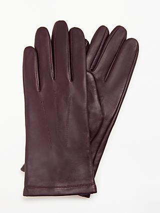 14a4a5b9447 John Lewis   Partners Leather Fleece Lined Gloves