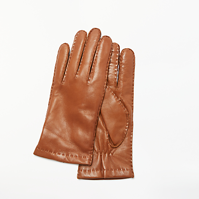 Modern Rarity Hand Stitched Lambskin Leather Gloves, Tan
