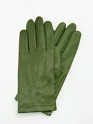John Lewis   Partners Leather Fleece Lined Gloves c9c89f248ca