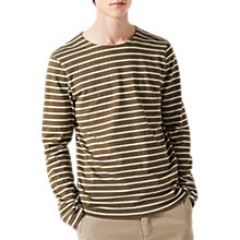 Buy Jigsaw Alexander Long Sleeve Breton Top Online at johnlewis.com