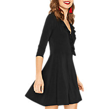 Buy Oasis Ruffle Wrap Dress, Black Online at johnlewis.com