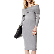 Buy Karen Millen Bardot Knit Dress, Grey Online at johnlewis.com
