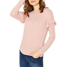 Buy Oasis Frill Drop Sleeve Top, Pale Pink Online at johnlewis.com