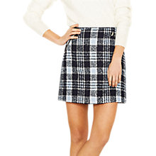 Buy Oasis Boucle Zip Detail Skirt, Navy Online at johnlewis.com