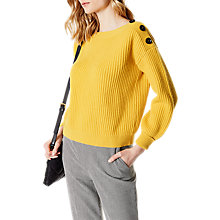 Buy Karen Millen Wool Blend Jumbo Button Jumper Online at johnlewis.com