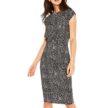 Buy Oasis Abstract Animal Print Drape Dress, Multi Online at johnlewis.com