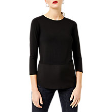 Buy Warehouse Button Back Top, Black Online at johnlewis.com