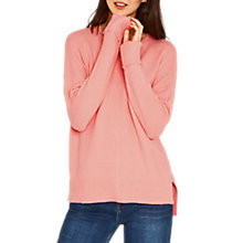 Buy Oasis Long Length Perfect Crew Neck Jumper, Pale Pink Online at johnlewis.com
