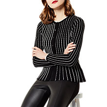 Buy Karen Millen Micro Stitch Knit Cardigan, Black/Ivory Online at johnlewis.com