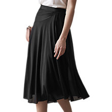 Buy Reiss Mora Fluid Midi Skirt, Black Online at johnlewis.com