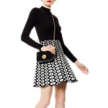 Buy Karen Millen Graphic Knit Dress, Black/White Online at johnlewis.com