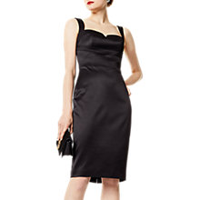 Buy Karen Millen Satin Pencil Dress, Black Online at johnlewis.com