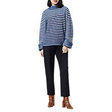 Buy Finery Marble Mohair Striped Jumper, Blue Online at johnlewis.com