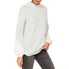 Buy Mint Velvet Balloon Sleeve Jumper, Grey Online at johnlewis.com