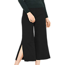 Buy Oasis Side Split Cropped Trousers, Black Online at johnlewis.com