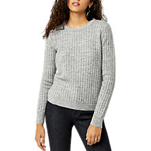 Buy Warehouse Cosy Stitch Jumper, Dark Grey Online at johnlewis.com
