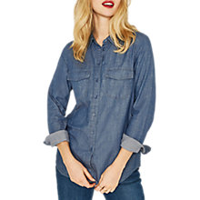 Buy Oasis Denim Wrap Back Shirt, Denim Online at johnlewis.com