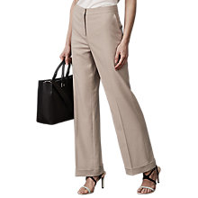 Buy Reiss Maddox Tailored Wide Leg Trousers, Camel Online at johnlewis.com
