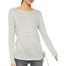 Buy Mint Velvet Marl Linen Long Sleeve T-Shirt, Light Grey Online at johnlewis.com