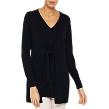 Buy Mint Velvet Knotted Tie Front Tunic Jumper, Dark Blue Online at johnlewis.com