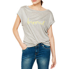 Buy Mint Velvet Bisous Marl T-Shirt, Light Grey Online at johnlewis.com