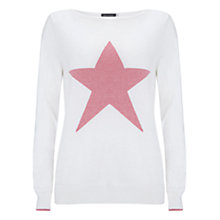 Buy Mint Velvet Star Front Jumper, Neutral Online at johnlewis.com