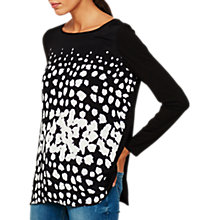 Buy Mint Velvet Frances Print T-Shirt, Black/Multi Online at johnlewis.com