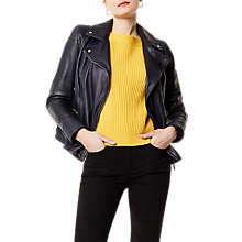 Buy Karen Millen Washed Biker Jacket Online at johnlewis.com