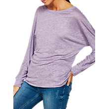 Buy Mint Velvet Linen Marl Batwing Top, Lilac Online at johnlewis.com