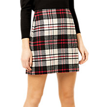 Buy Warehouse Check Skirt, Multi/Red Online at johnlewis.com