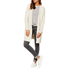 Buy Mint Velvet Lace Up Boyfriend Cardigan, Neutral Online at johnlewis.com