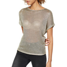 Buy Mint Velvet Metallic Slouchy Jumper Online at johnlewis.com