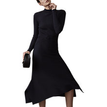Buy Reiss Amanda Knit Dress, Night Navy Online at johnlewis.com