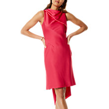 Buy Karen Millen Asymmetric Super Train Dress, Pink Online at johnlewis.com