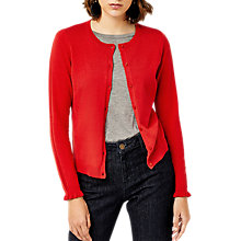 Buy Warehouse Ruffle Cuff Crew Cardigan Online at johnlewis.com