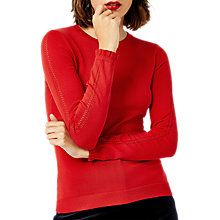 Buy Warehouse Ruffle Cuff Crew Jumper Online at johnlewis.com