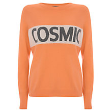 Buy Mint Velvet Sherbet Cosmic Blocked Crew Jumper, Multi Online at johnlewis.com