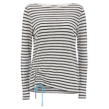 Buy Mint Velvet Ruched Side T-Shirt, Stripe Online at johnlewis.com
