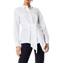 Buy Karen Millen Wrap Front Shirt, White Online at johnlewis.com