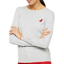 Buy Mint Velvet Watermelon Jumper, Light Grey Online at johnlewis.com