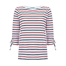Buy Mint Velvet Tie Cuff Top, Stripe Online at johnlewis.com