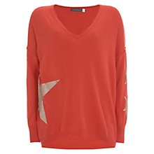Buy Mint Velvet Foil Star Jumper, Watermelon Online at johnlewis.com