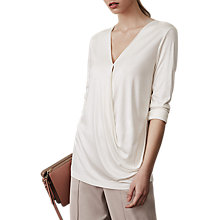 Buy Reiss Rox Wrap Long Sleeve Top Online at johnlewis.com