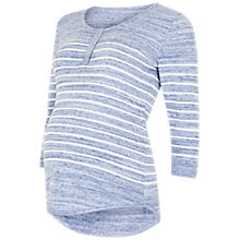 Buy Séraphine Alberta Nursing Maternity Snood Jumper, Blue/White Online at johnlewis.com