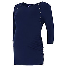 Buy Séraphine Martie Maternity & Nursing Top, Navy Online at johnlewis.com