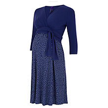Buy Séraphine Kessi Dot Print Maternity Nursing Dress, Navy Online at johnlewis.com