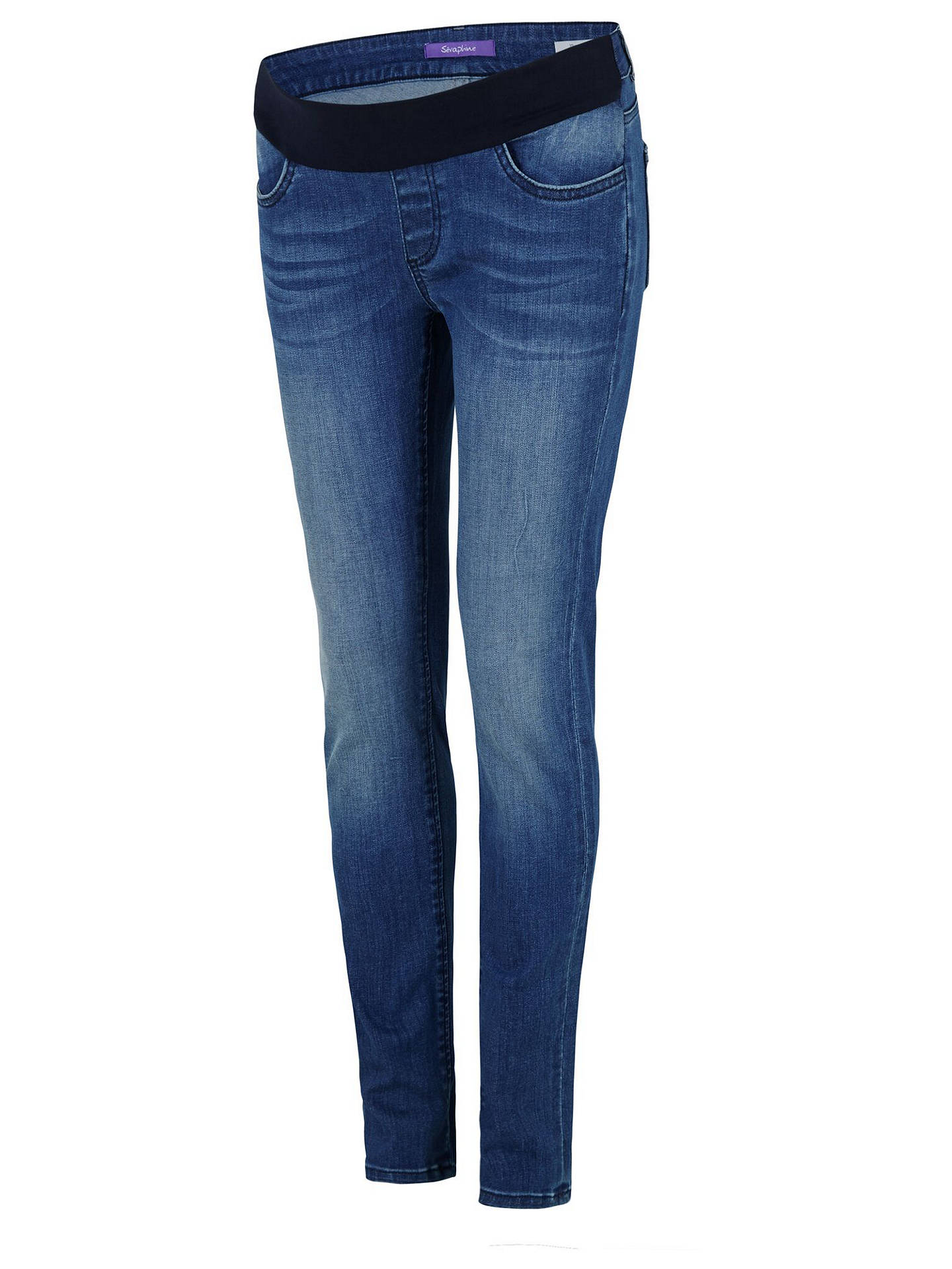 52d15a067eb87 Buy Seraphine Benton Overbump Maternity Slim Fit Jeans, Blue, 8 Online at  johnlewis.