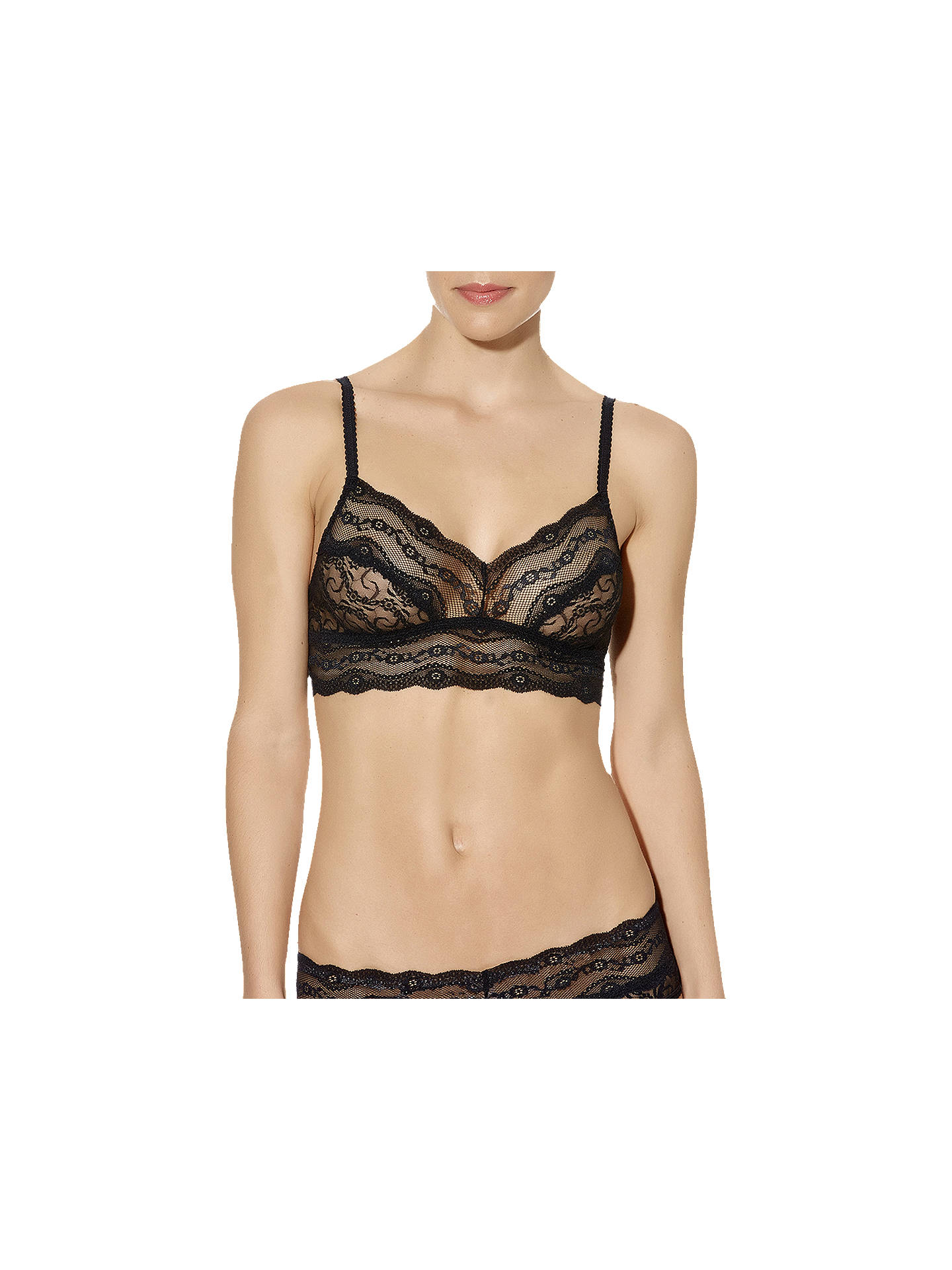 Buy b.tempt'd Lace Kiss Bralette, Night, S Online at johnlewis.com