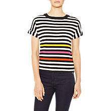 Buy PS Paul Smith Knitted Stripe Cotton Top, Multi Online at johnlewis.com