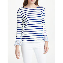 Buy JEFF Lou Stripe Jumper, Off White/Indigo Online at johnlewis.com